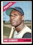 1966 Topps #300  Roberto Clemente  Front Thumbnail