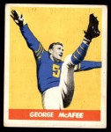 1948 Leaf #19 xGOR George McAfee  Front Thumbnail