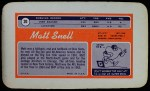 1970 Topps Super #20  Matt Snell  Back Thumbnail