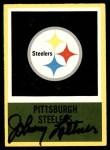 1967 Philadelphia #156   Pittsburgh Steelers Logo Front Thumbnail