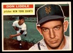 1956 Topps #325  Don Liddle  Front Thumbnail