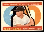 1960 Topps #563   -  Mickey Mantle All-Star Front Thumbnail