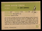 1961 Fleer #23  John David Crow  Back Thumbnail
