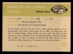 1961 Fleer #133  John Greene  Back Thumbnail