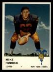 1961 Fleer #217  Mike Hudock  Front Thumbnail