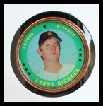 1971 Topps Coins #141  Larry Dierker  Front Thumbnail