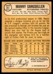 1968 Topps #251  Manny Sanguillen  Back Thumbnail