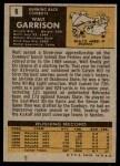 1971 Topps #8  Walt Garrison  Back Thumbnail