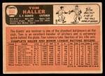 1966 Topps #308  Tom Haller  Back Thumbnail