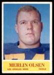 1964 Philadelphia #91  Merlin Olsen   Front Thumbnail