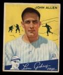 1934 Goudey #42  Johnny Allen  Front Thumbnail