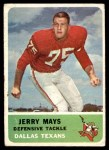 1962 Fleer #31  Jerry Mays  Front Thumbnail