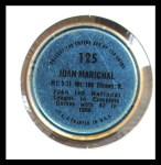 1971 Topps Coins #125  Juan Marichal  Back Thumbnail