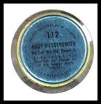1971 Topps Coins #112  Andy Messersmith  Back Thumbnail