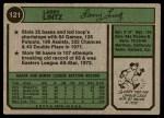 1974 Topps #121  Larry Lintz  Back Thumbnail