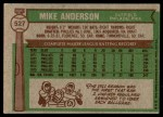 1976 Topps #527  Mike Anderson  Back Thumbnail