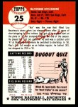 1953 Topps Archives #25  Ray Boone  Back Thumbnail