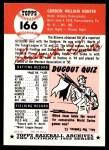1953 Topps Archives #166  Billy Hunter  Back Thumbnail