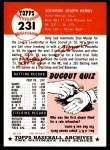 1953 Topps Archives #231  Solly Hemus  Back Thumbnail