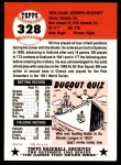 1953 Topps Archives #328  Bill Rigney  Back Thumbnail