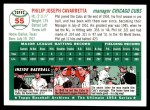 1954 Topps Archives #55  Phil Cavarretta  Back Thumbnail
