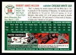 1954 Topps Archives #58  Bob Wilson  Back Thumbnail