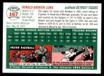 1954 Topps Archives #167  Don Lund  Back Thumbnail