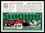 1954 Topps Archives #244  Leroy Wheat  Back Thumbnail