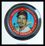 1971 Topps Coins #2  Davey Johnson  Front Thumbnail