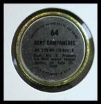 1971 Topps Coins #64  Bert Campaneris  Back Thumbnail
