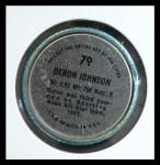 1971 Topps Coins #79  Deron Johnson  Back Thumbnail