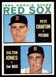 1964 Topps #459   -  Pete Charton / Dalton Jones Red Sox Rookies Front Thumbnail