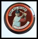 1964 Topps Coins #156   -   Tim McCarver All-Star Front Thumbnail