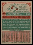 1973 Topps #255  Joe Caldwell  Back Thumbnail