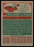 1973 Topps #215  Rich Jones  Back Thumbnail