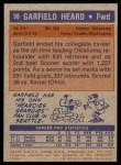 1972 Topps #98  Garfield Heard   Back Thumbnail