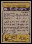 1979 Topps #117  Bucky Dilts  Back Thumbnail