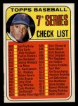 1969 Topps #582 RED  -  Tony Oliva Checklist 7 Front Thumbnail
