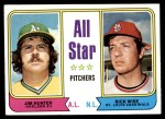 1974 Topps #339   -  Catfish Hunter / Rick Wise All-Star Pitchers   Front Thumbnail