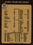 1973 Topps #464   Cubs Team Back Thumbnail