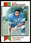 1973 Topps #248  Earl McCullouch  Front Thumbnail