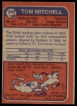 1973 Topps #292  Tom Mitchell  Back Thumbnail
