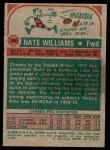 1973 Topps #54  Nate Williams  Back Thumbnail