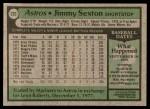 1979 Topps #232  Jimmy Sexton  Back Thumbnail
