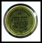 1964 Topps Coins #79   Norm Cash   Back Thumbnail
