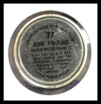 1964 Topps Coins #77  Bob Friend  Back Thumbnail
