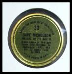 1964 Topps Coins #32   Dave Nicholson   Back Thumbnail