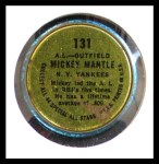 1964 Topps Coins #131 RHB  -  Mickey Mantle All-Star Back Thumbnail