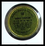 1964 Topps Coins #18   Brooks Robinson   Back Thumbnail