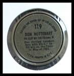 1964 Topps Coins #119   Don Nottebart   Back Thumbnail